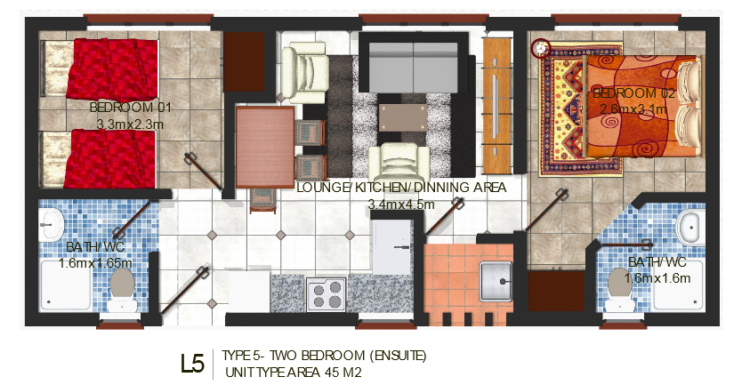 The lynx west two bedrooms ensuite lynx 5 suraya for Apartment plans in kenya